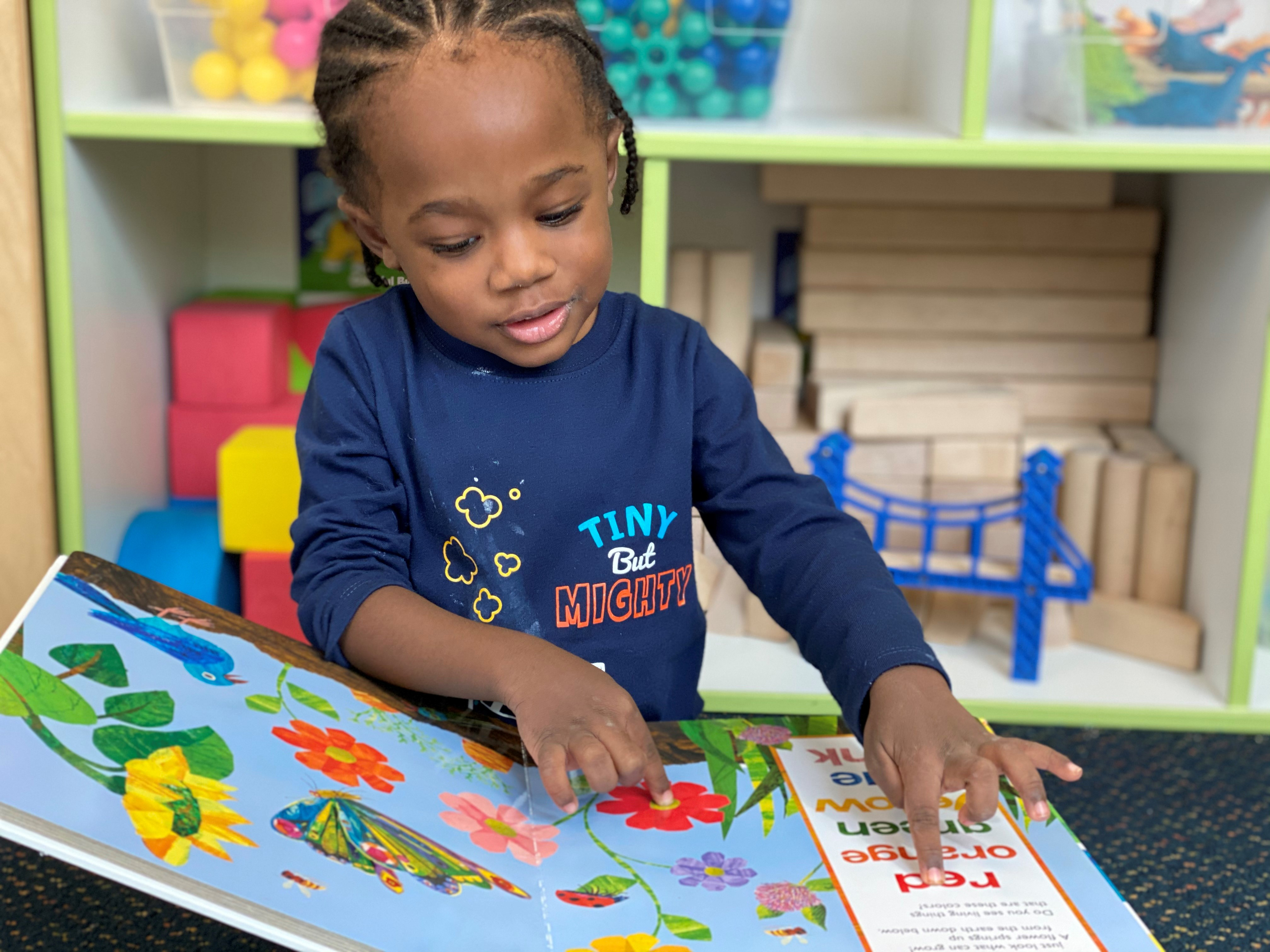 Our proprietary L.E.A.P (Learning Experience Academic Program) curriculum encourages children to learn in their favorite way: by exploring and doing. Our little learners achieve success independently while developing intellectually, socially and cogn