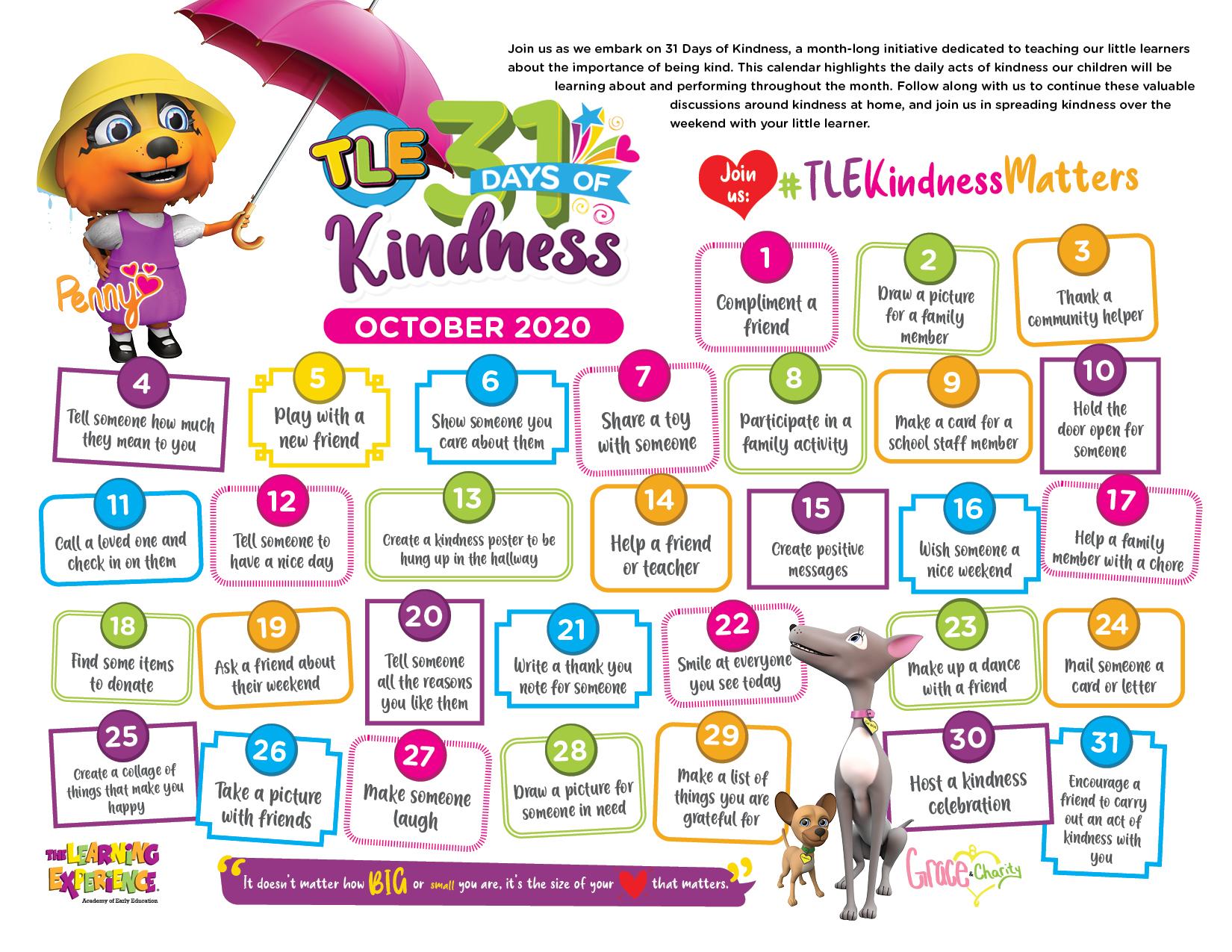 31Daysofkindness Calendarindd